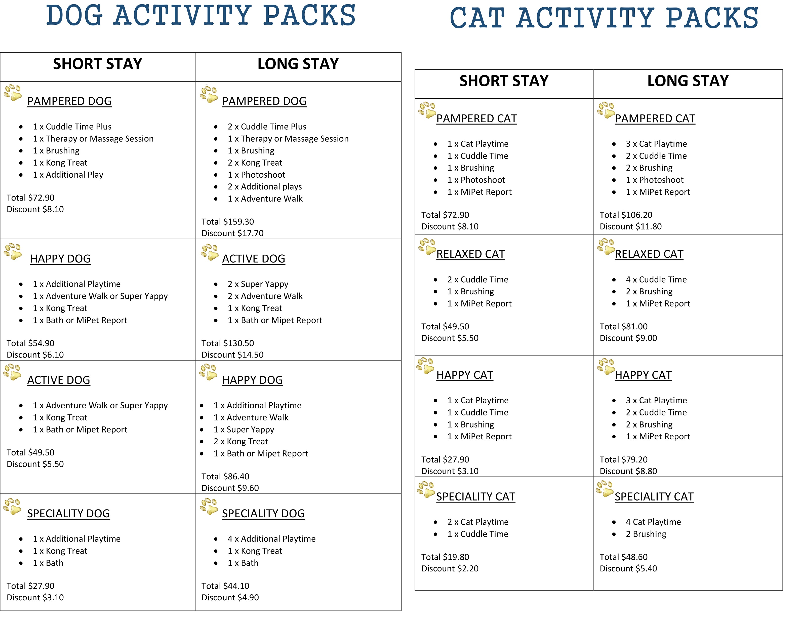 Activity Packs - DandCat